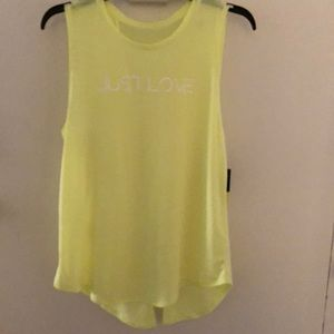 3 for $15 Neon yellow muscle tee tank top